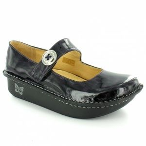 Alegria Paloma Mary Jane Flat Pump Black Patent 39